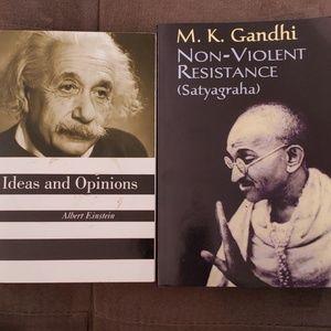 Einstein and Gandhi book bundle.